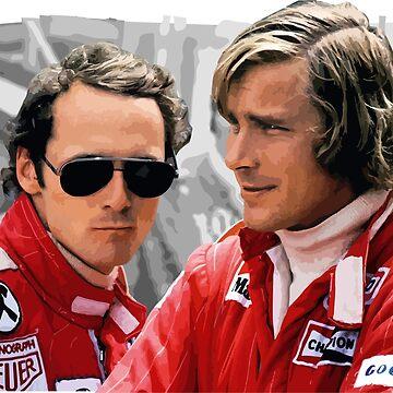 James Hunt x Niki Lauda - F1 Legends by opngoo