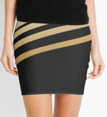 Black and Gold Stripes Mini Skirt