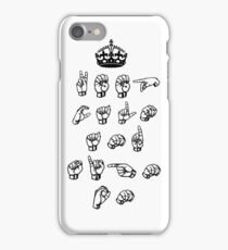 Keep calm and sign on - American sign language iPhone Case/Skin