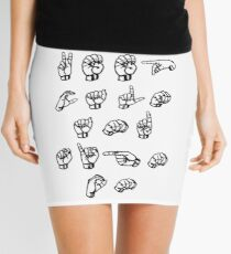 Keep calm and sign on - American sign language Mini Skirt