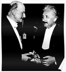 Max Planck x Albert Einstein Poster