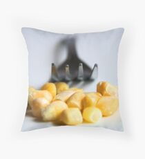 Corn and Fork Throw Pillow