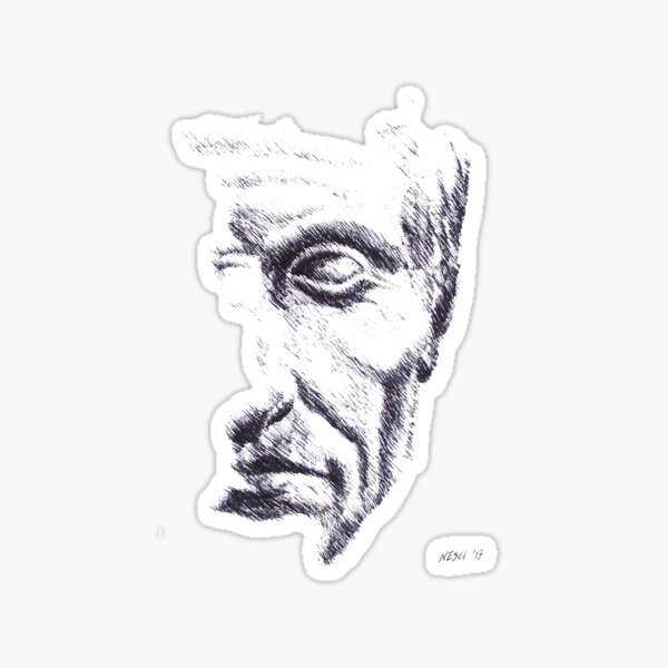 Gaius Julius Caesar, drawing, roman empire, Rome, Italy Sticker