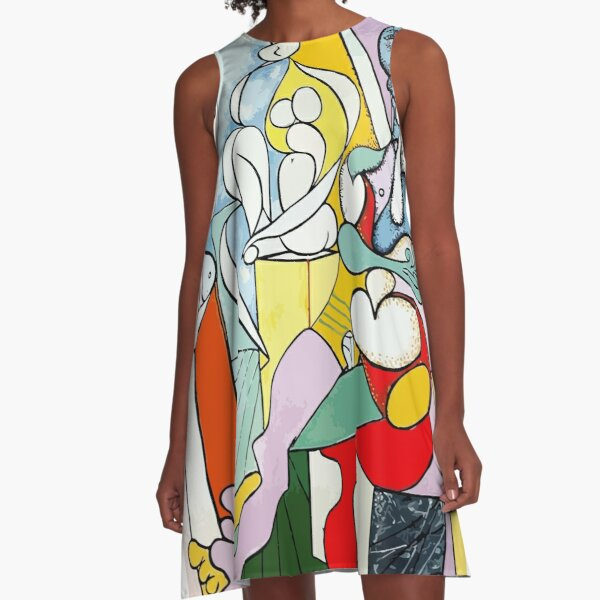 Pablo Picasso The Sculptor, 1931 Artwork Reproduction A-Line Dress