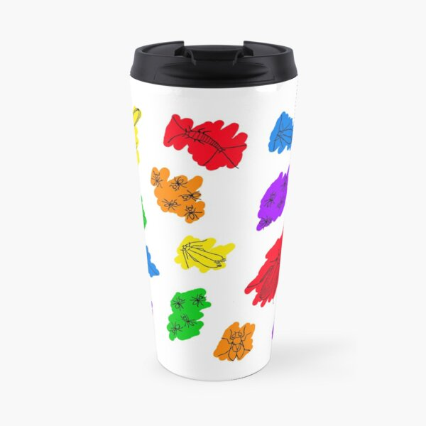 Uninvited Guests - Black Outline Travel Mug