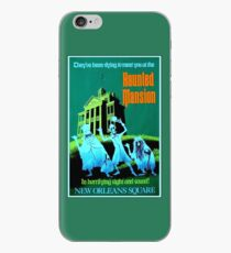 NEW ORLEANS : Vintage Haunted Mansion Advertising Print iPhone Case