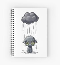Cat Having A Bad Day Spiral Notebook