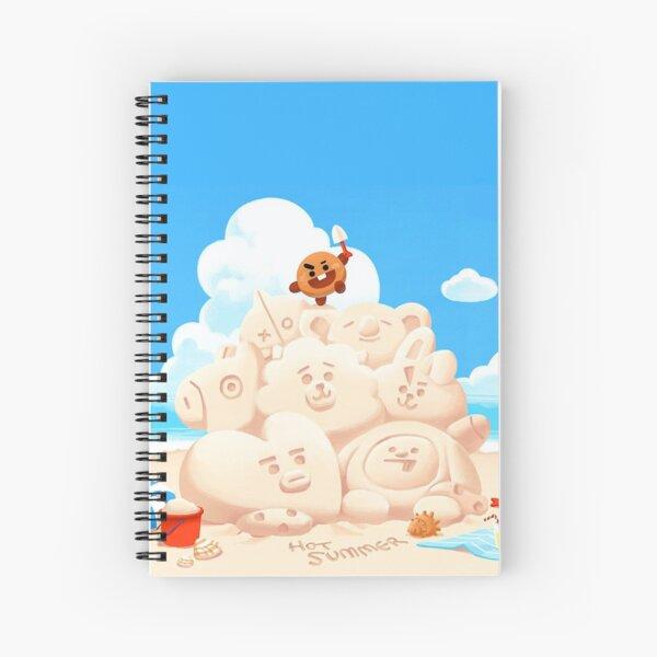 BT21 castillos de arena de playa ~ Cuaderno de espiral