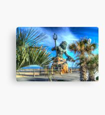 Virginia Beach Boardwalk with King Neptune Canvas Print