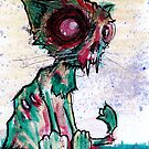 Suddenly Sal, a zombie cat by byronrempel