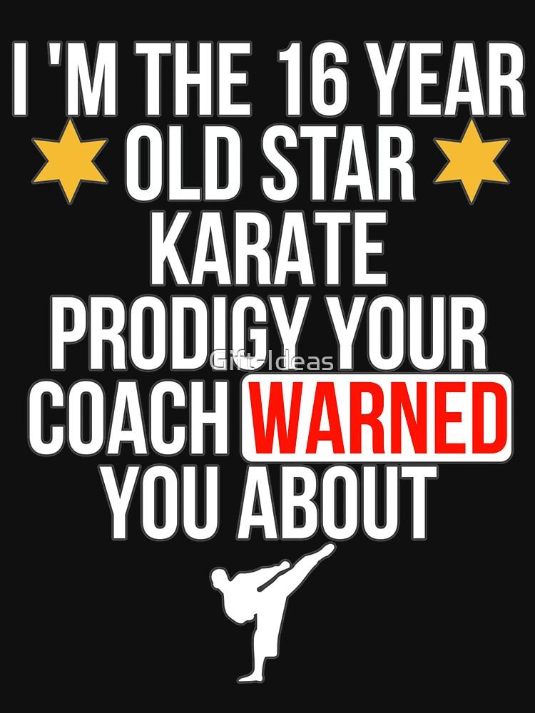 16 Year old Karate Star player von Gift-Ideas