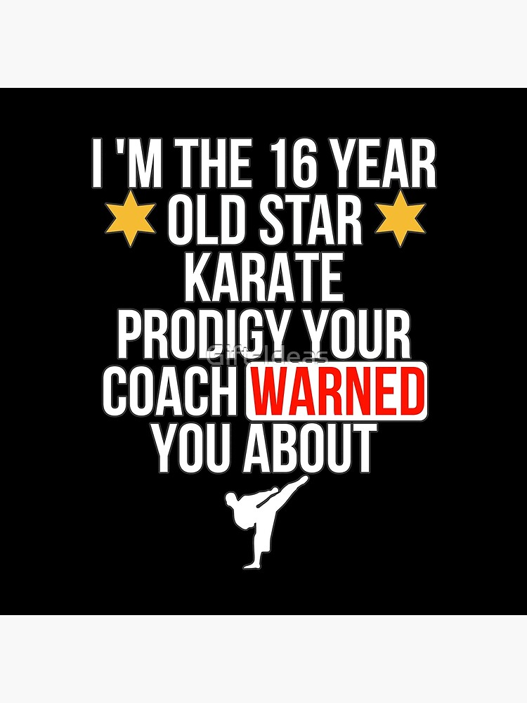 16 Year old Karate Star player von Gift-Ideas