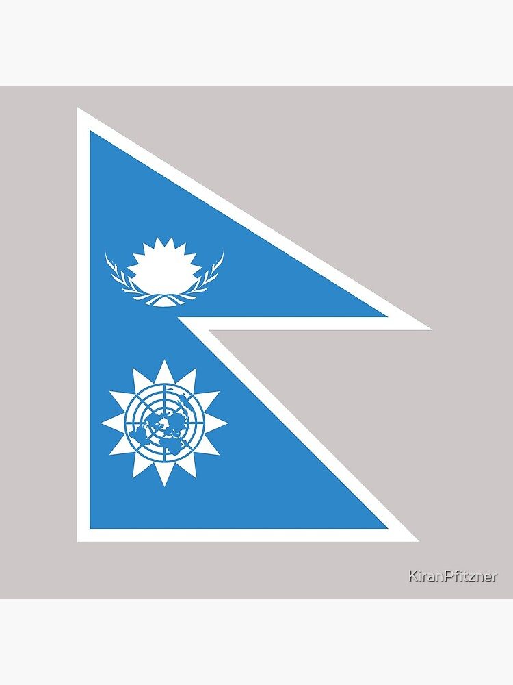 Nepal Inspired UN Flag   Tote Bag