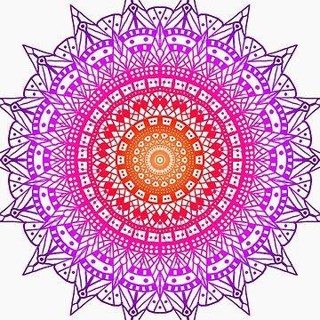 Sunset Mandala by almondmilk-art