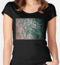Jupiter Abstract Painting Women's Fitted Scoop T-Shirt