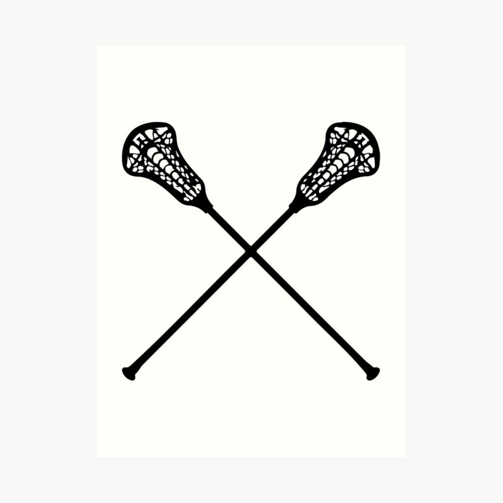 Lacrosse-Stöcke Kunstdruck
