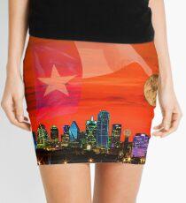 Dallas Sunrise Skyline Mini Skirt