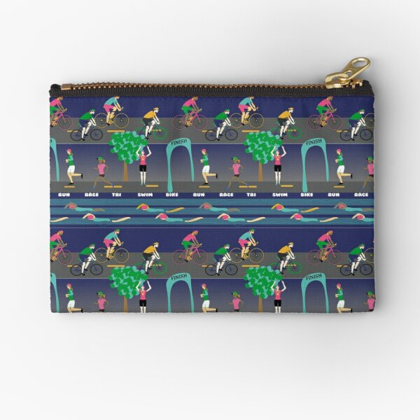 Women Rock Triathlon! Zipper Pouch