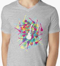 Rainbow Guitars Mens V-Neck T-Shirt