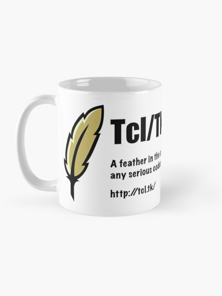 Alternate view of Tcl/Tk - Feather in the cap - Coder Mug