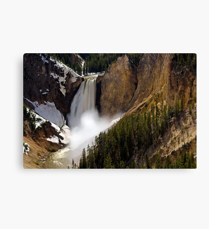 Lower Falls - Yellowstone River Canvas Print