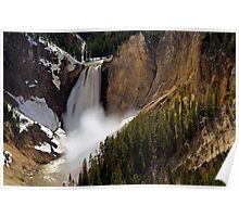 Lower Falls - Yellowstone River Poster