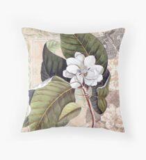 Antique Magnolia Collage Kissen