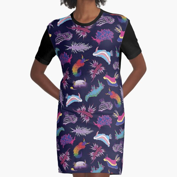 Nudi LGBTQ-ties Graphic T-Shirt Dress
