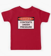 Danger - Contents Under Pressure Kids Tee