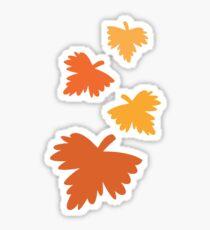 4 fall autumn leaves Sticker