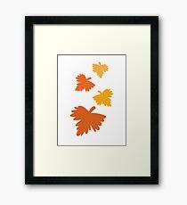 4 fall autumn leaves Framed Print
