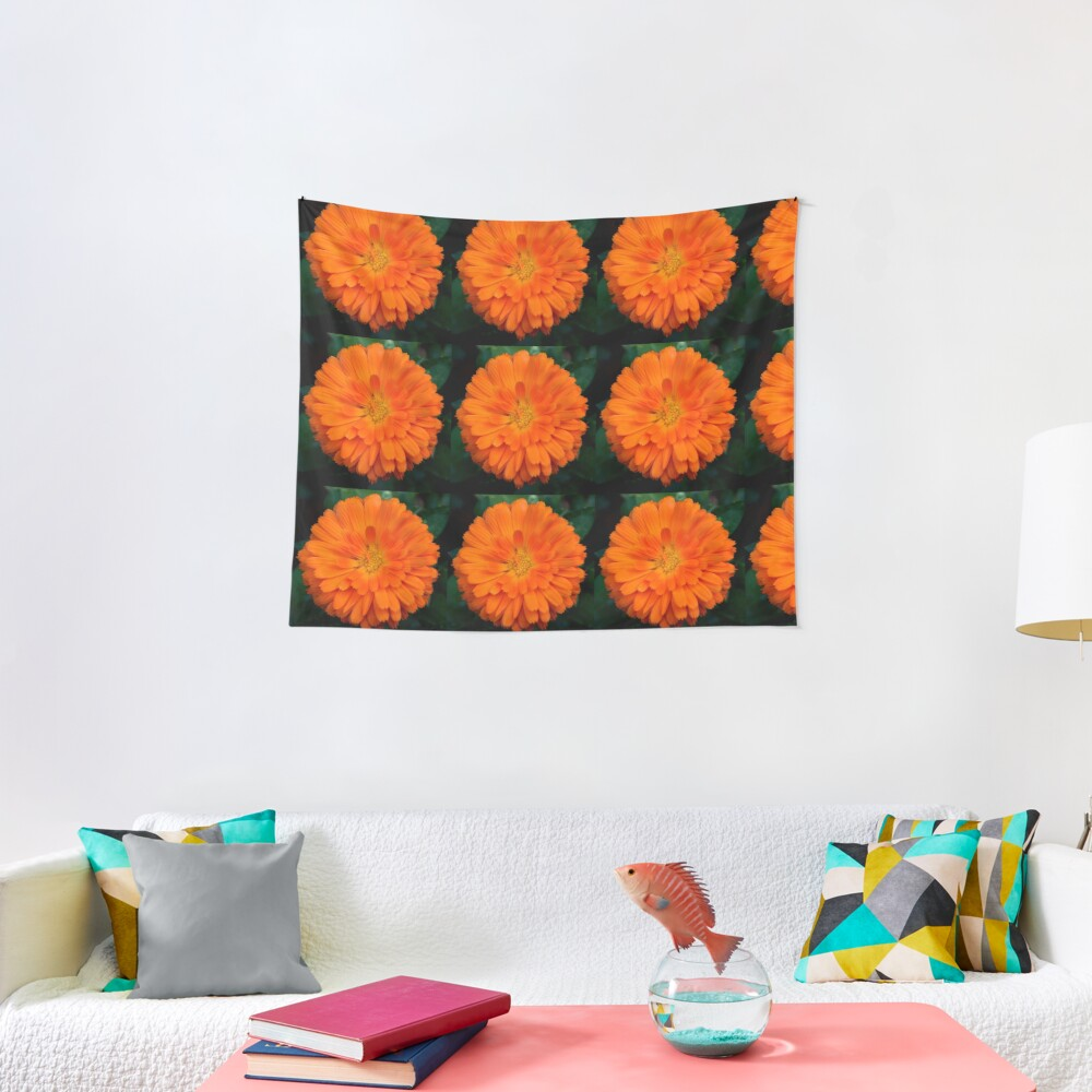 Orange Spray Tapestry