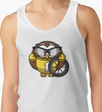 owl animal bicycle bike bird Tank Top