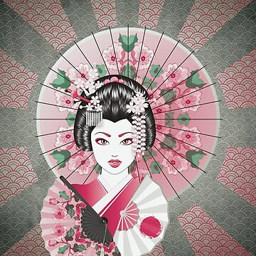 Geisha with Fan by AnnArtshock