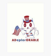 Adorable Deplorable Patriotic Kitten Art Print