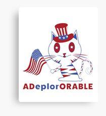 Adorable Deplorable Patriotic Kitten Canvas Print