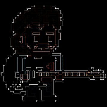Neon Glow God of Guitar by gkillerb
