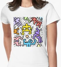 Haring Women's Fitted T-Shirt
