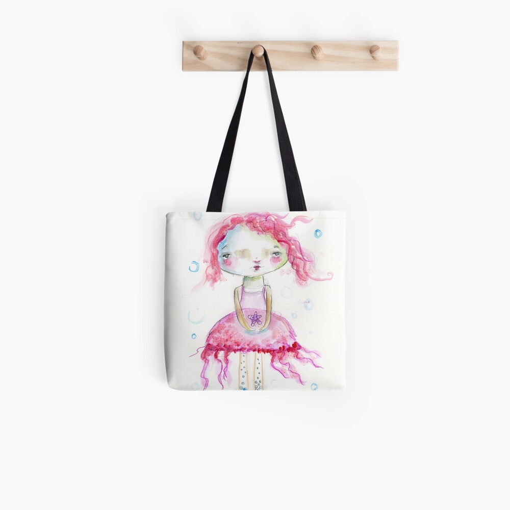 Jellyfish Girl Tote Bag