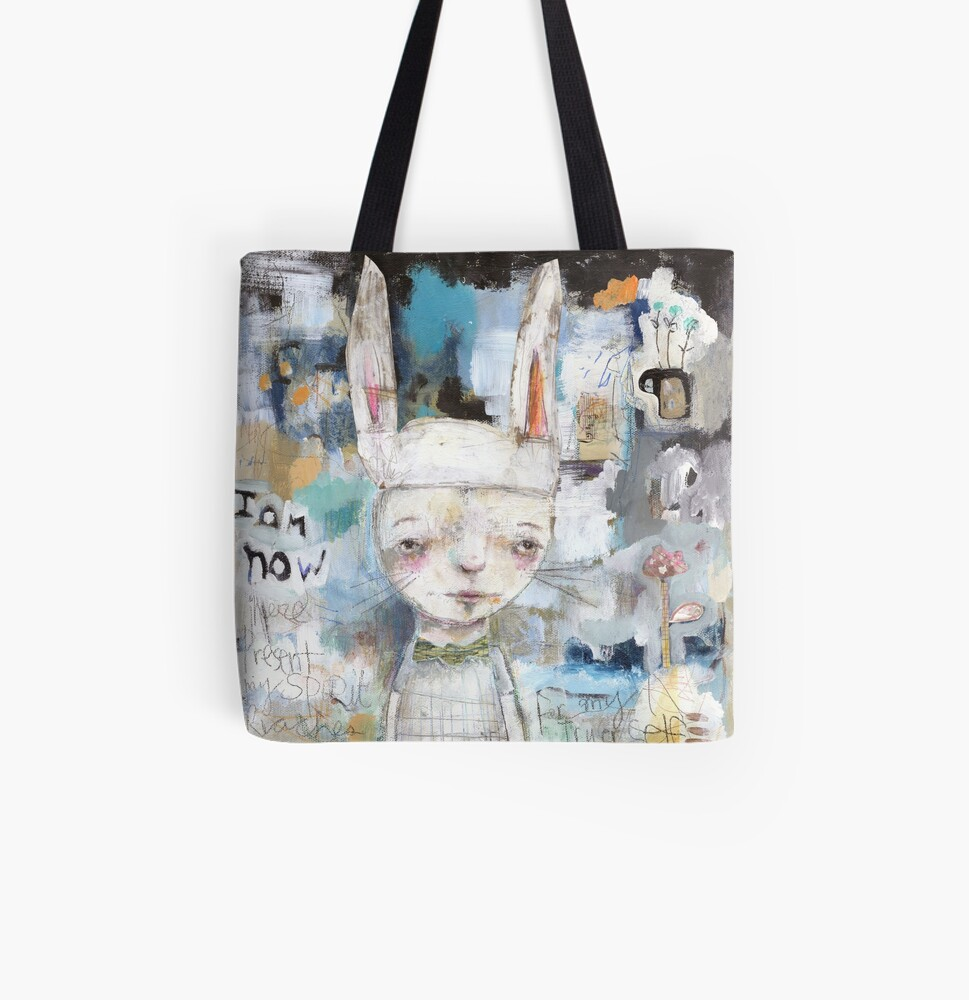I am Now All Over Print Tote Bag