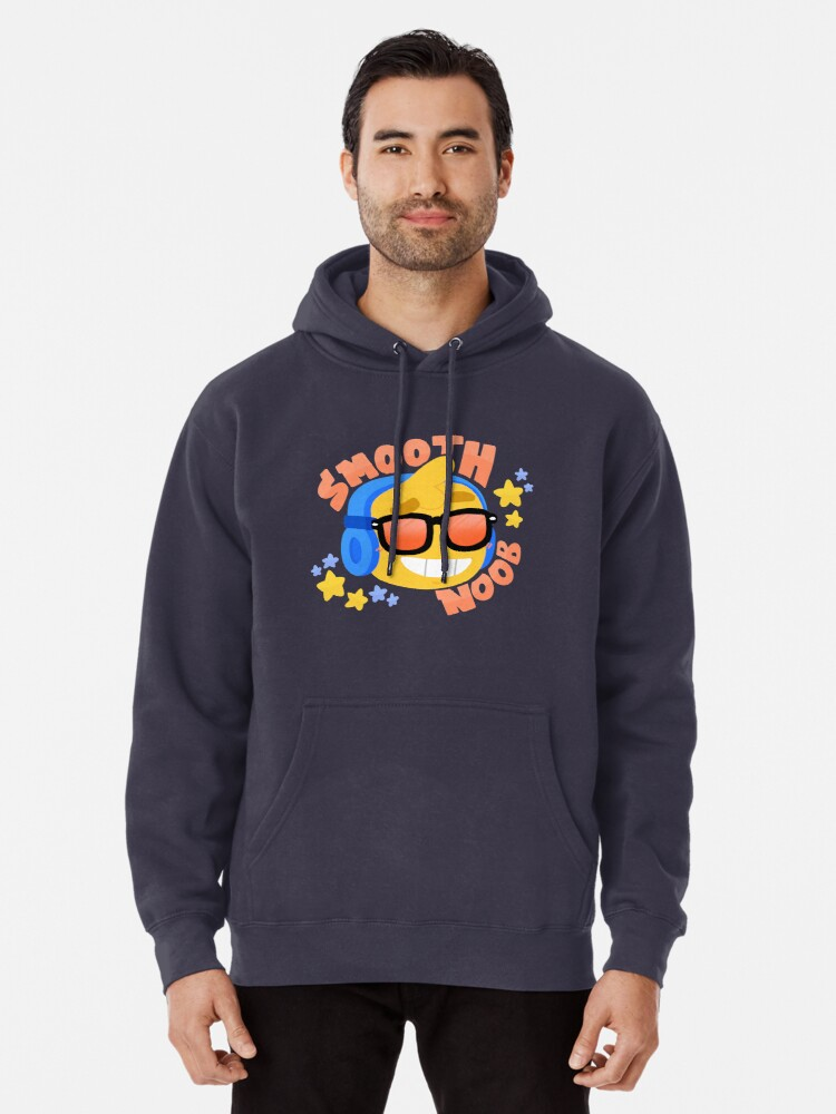 Dark Blue Hoodie Roblox Hand Drawn Smooth Noob Roblox Inspired Character With Headphones Pullover Hoodie By Smoothnoob Redbubble