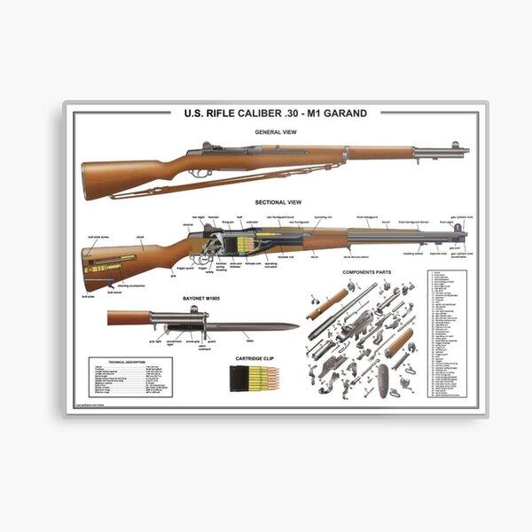 Framed M1 Garand Rifle WW2 Print WW2 Weapon Semi Automatic Rifle Gun Enthusiast
