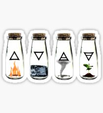 The 4 Elements Sticker