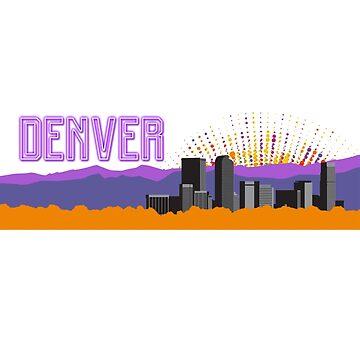 Denver Colorado 5280 Mile High City by fantedesign