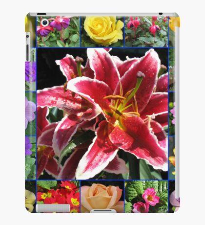 Auswahl an Sommerblumen Collage iPad-Hülle & Klebefolie