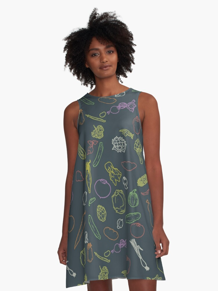 Kickass Vegan Mode A-Line Dress Front