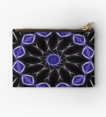 Blue Purple Black kaleidoscope  Art 2 Studio Pouch