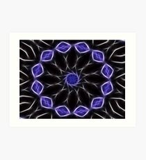 Blue Purple Black kaleidoscope  Art 2 Art Print