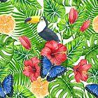 Tropical pattern by Katerina Kirilova