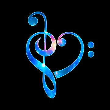 Galaxy music heart treble clef bass by boom-art